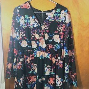 Xhilaration Multicolored Floral Dress